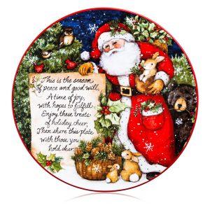 """Блюдо сервировочное """"Магия Рождества. Поздравление от Санты"""""""