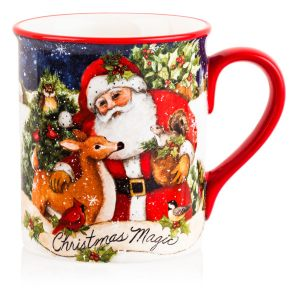 "Кружка ""Магия Рождества. Санта"" (с животными)"