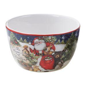 """Салатник индивидуальный """"Магия Рождества. Санта"""" 13 см"""