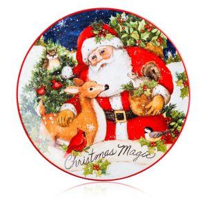 """Тарелка закусочная """"Магия Рождества. Санта"""""""