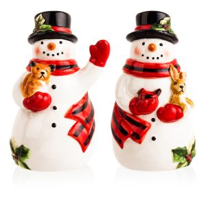"""Набор для соли и перца """"Магия Рождества. Снеговик"""""""