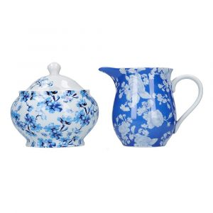 """Сахарница и молочник """"Синие цветы"""""""