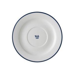 Блюдце мини с синим цветком в центре