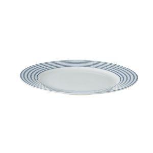 Тарелка с синими полосками