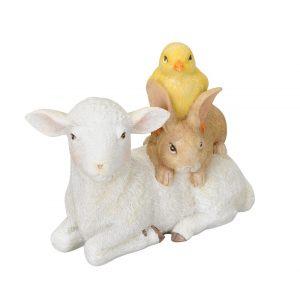 """Декор """"Овечка с кроликом и цыпленком"""""""