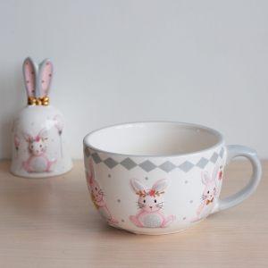 """Чашка большая с объемным рисунком """"Sweet Bunny"""""""