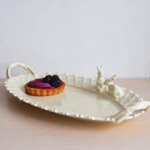 """Блюдо овальное с кроликом """"Крем де ла крем"""""""