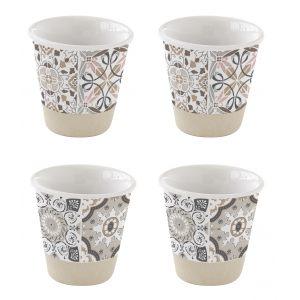 """Набор из 4 чашек для кофе """"Casadecor"""" в цветной упаковке"""