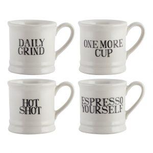 """Набор 4 кофейных чашек эспрессо """"Measure"""""""