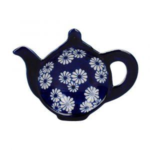 """Подставка под чайные пакетики """"English Ceramic"""" (с белыми цветами)"""