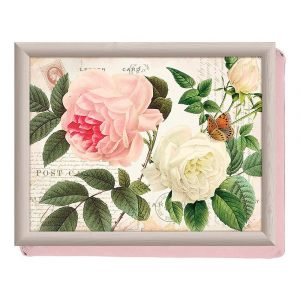 """Поднос с подушкой """"Розовый сад"""""""