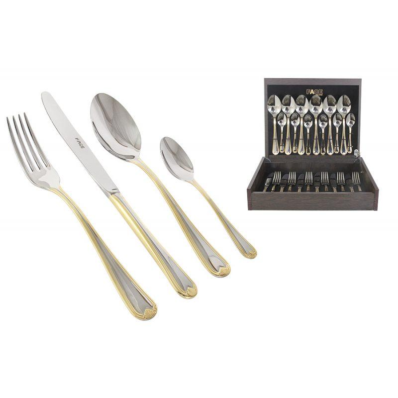 """Набор столовых приборов на 6/12 персон """"Santorini Gold"""""""