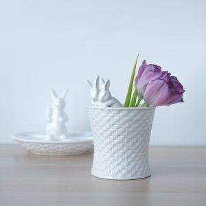 Ваза керамическая с Кроликами-Малышами