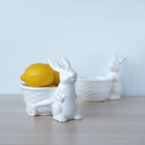 """Конфетница """"Кролик с тележкой"""""""