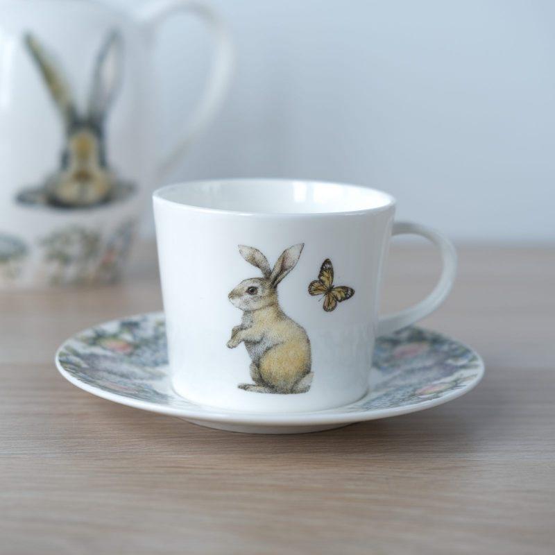 """Чайная пара """"Кролик в цветах"""""""