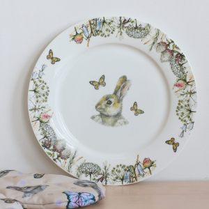"""Тарелка обеденная """"Кролик в цветах"""""""