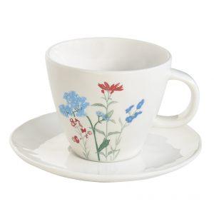 """Чашка и блюдце """"Mille fleurs"""" в подарочной упаковке"""