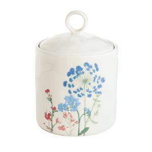 """Банка для хранения """"Mille fleurs"""" с синими и красными цветами"""