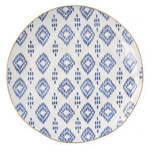 """Тарелка десертная """"Elegance"""" с синими ромбами"""