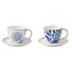 """Набор из 2 чашек с блюдцами для кофе """"Elegance"""" в подарочной упаковке"""