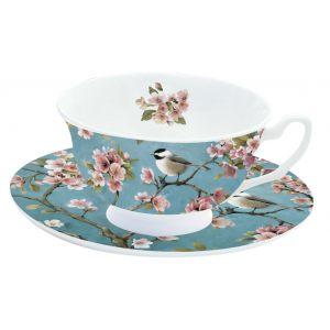 """Чашка с блюдцем для кофе """"Сакура"""""""
