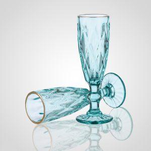 "Бокал для шампанского ""Бриллианс"" голубой"