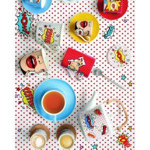 """Набор для закусок """"Pop art"""" из 3 салатников с ложками на бамбуковом подносе"""