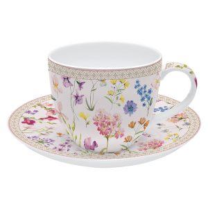 """Чашка с блюдцем """"Symphonie Florale"""" в подарочной упаковке"""