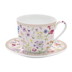 """Чашка с блюдцем """"Symphonie Florale"""" (для завтрака) в подарочной упаковке"""