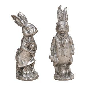 """Декор """"Кролик"""" серебристого цвета в ассортименте"""