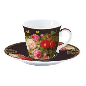 """Чашка с блюдцем """"Victorian Garden"""" в подарочной упаковке"""