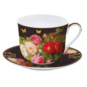 """Чашка и блюдце для завтрака """"Victorian Garden"""" в подарочной упаковке"""