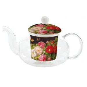 """Чайник заварочный с ситечком для заваривания """"Victorian Garden"""" в подарочной упаковке"""