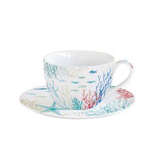 """Чашка и блюдце """"Under the sea"""" в подарочной упаковке"""