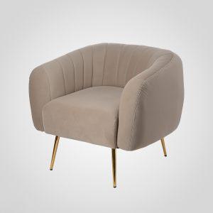 Дизайнерское мягкое кресло с низкой спинкой в стиле арт-деко