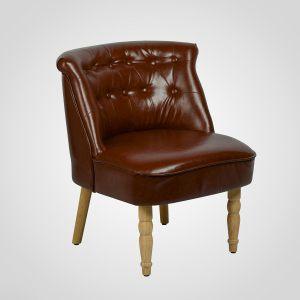 Кресло интерьерное коричневое (экокожа)