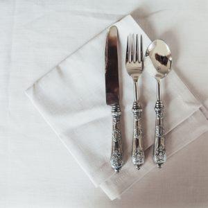 Салфетка светлая из итальянского шелка