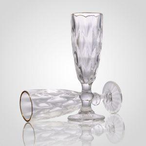 """Бокал для шампанского """"Бриллианс"""" с золотистой каймой"""