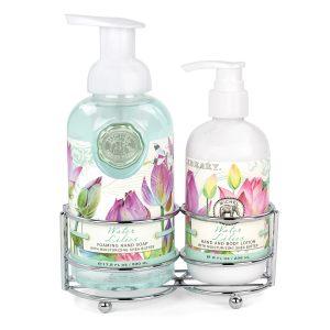 """Набор """"Водяная лилия"""": мыло-пенка и лосьон для рук и тела"""