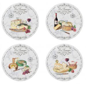 """Набор из 4 тарелок для сыра """"Les Fromages"""" в подарочной упаковке"""