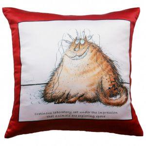 Прикольная декоративная подушка Коты-19