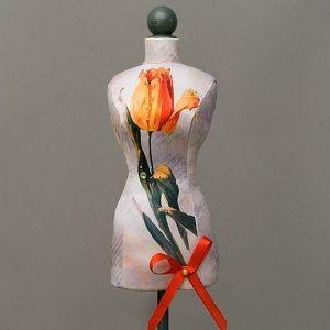 Мини-манекен Желтый тюльпан