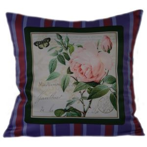 Декоративная подушка в стиле шебби шик