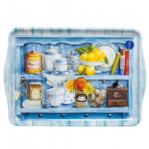 Поднос кухня в голубом