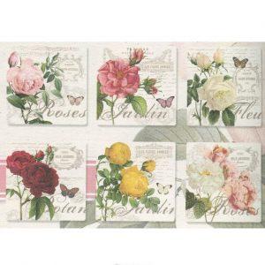 Набор из 6-ти подставок под стаканы Цветы