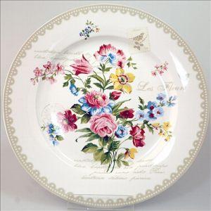 Тарелка обеденная 26,5 см бежевая