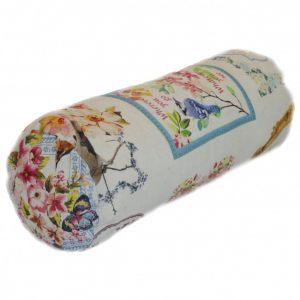 Подушка бочонок Барокко (птички)