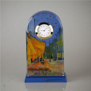Часы стеклянные Ночное кафе