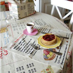 Льняные салфетки Винтажное кафе