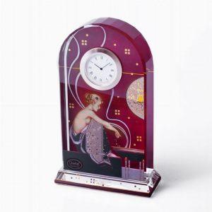 Часы настольные стеклянные Священный огонь II